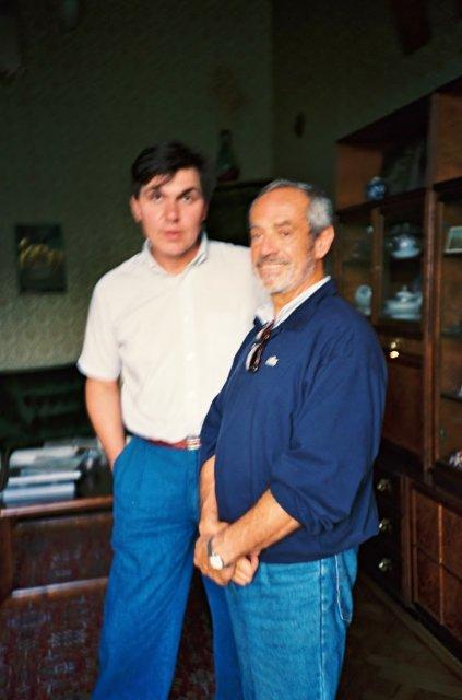 Николай Ващилин и сценограф Эцио Фриджерио.1989