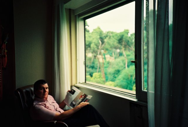 Николай Ващилин в доме у Кайо Марио Гарруба в Риме.