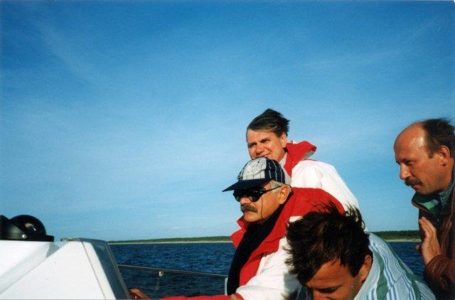 Николай Ващилин на морской прогулке в Остии с Никитой Михалковым.