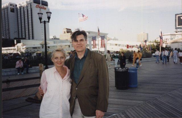 Николай Ващилин и Наташа Антонова в Атлантик- сити.Нью-Джерси.США.1995
