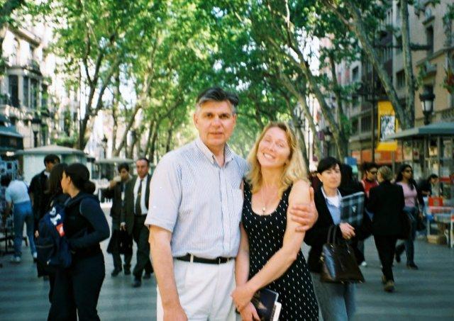 На улице Рамбла в Барселоне