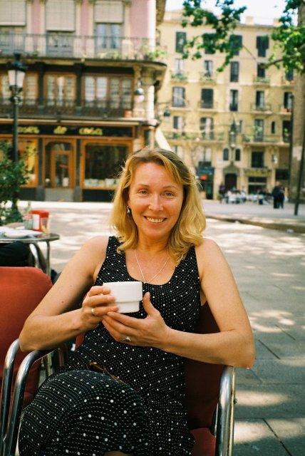В  кафе Мадрида