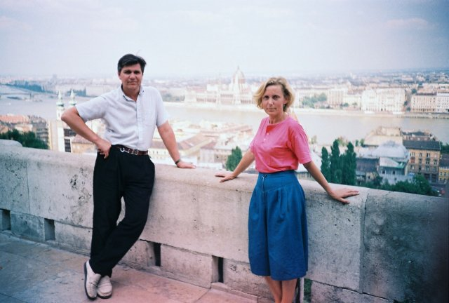 Вид на венгерский Парламент в Будапеште. 1989