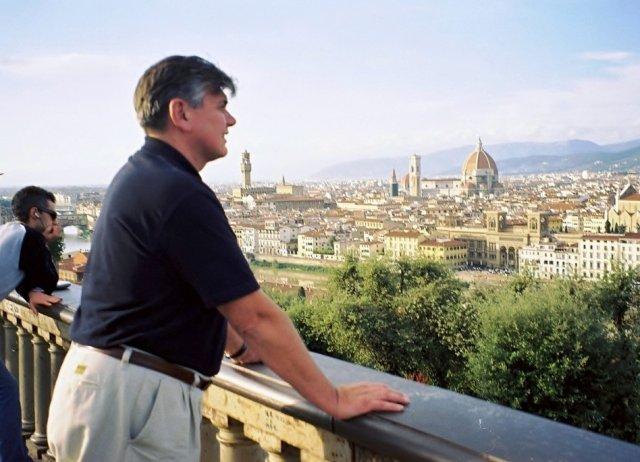 Николай Ващилин увидел Флоренцию издалека.