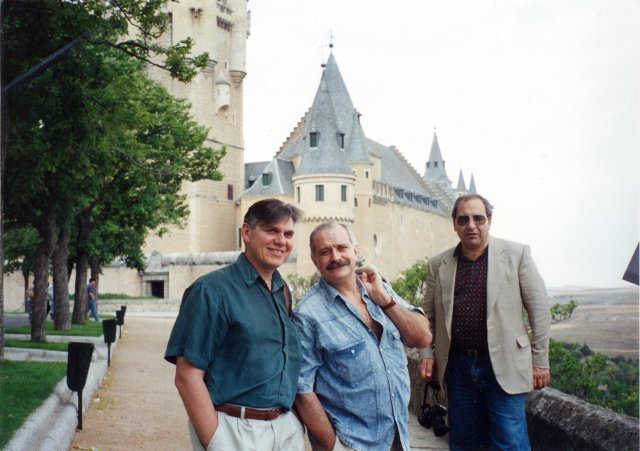 Николай Ващилин,Никита Михалков и Михаил Синягин в Сеговии.1995