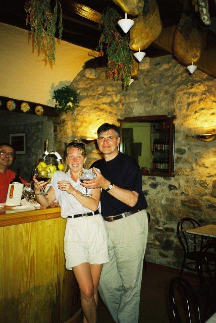 В ресторанчике по пути в Перпиньян.1999