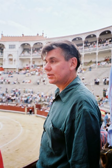 Николай Ващилин на корриде в Мадриде.1995