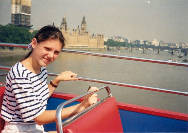 С дочерью Олей на экскурсии по Лондону