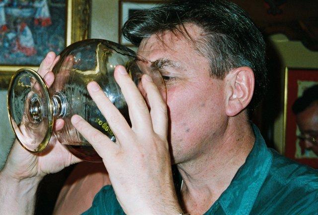 Гостевой глоток в ресторанчике Толедо.1995