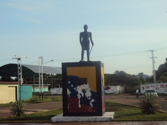 Боливар в Пуэрто-Аякучо, Венесуэла