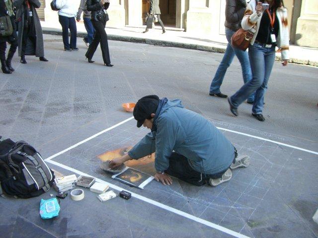 Италия, уличный художник