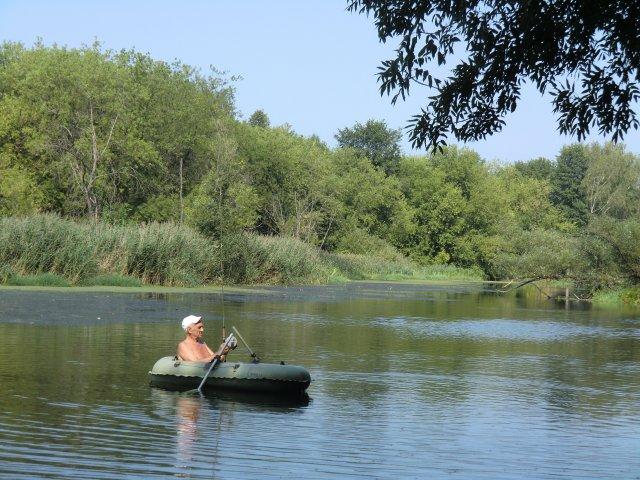Балихин Владимир Сергеевич на реке Сестре. 30.07.2010.