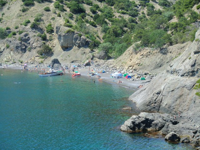 Царский пляж в Голубой бухте.