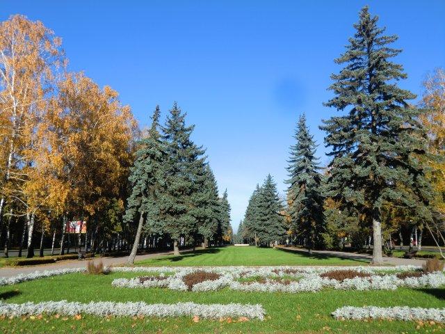 Осенние бульвары около Московского университета.