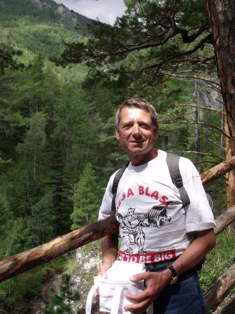 Андрей Балихин в каньоне Аршана.