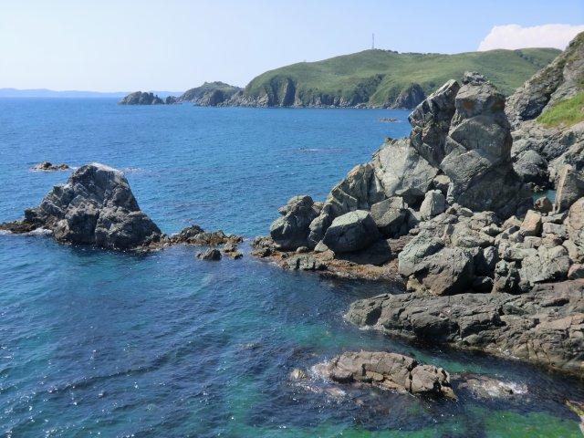 Скалистые берега Тихого океана.