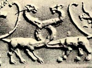 Оттиск печати из Урука. Месопотамия