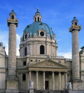Вена Церковь Св. Карла (Karlskirche) 18 век