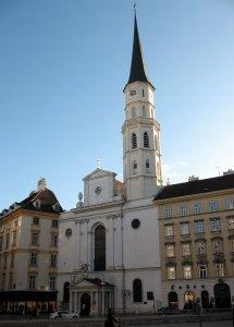 Вена Михаэлеркирхе (Michaelerkirche) - церковь Святого Михаила