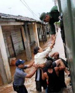 Обеспечение безопасности людей во время урагана, Куба