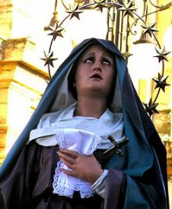 Статуя Богородицы Скорбей на Triq il-Madonna tal-Ħniena в из-Зейтуне