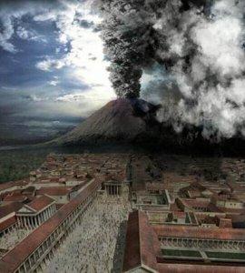 Извержение вулкана Везувий, Италия