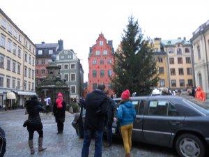 Площадь, на которой расположено здание Шведской Академии Наук