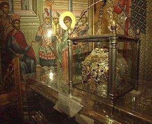 Реликвии св. Димитрия Солунского в Успенском соборе