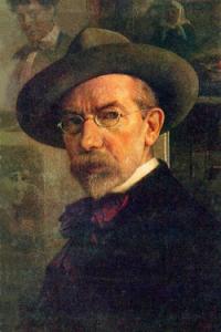 Юдель Моисеевич Пэн. Автопортрет, 1922 г.