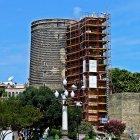 Девичья башня на реставрации