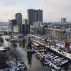 Зимний Роттердам, вид на Гавань- Музей (Havenmuseum)