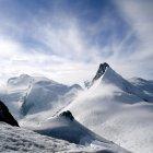 Вид на гору Аллалин, Саас-Фе, Швейцария