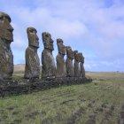 Статуи истуканов, остров Пасхи, Чили