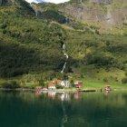 Пейзажи долины Фломсдален, Норвегия