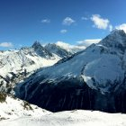 Вид с трассы Флежэр, горнолыжный курорт Шамони, Франция