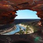 Скала Nature's Window в Национальном парке Калбарри, Австралия