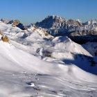Горнолыжный курорт Пассо-Сан-Пеллегрино, регион Тре-Валли, Италия