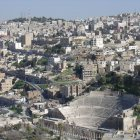 Вид с Цитадели на Амман и римский амфитеатр