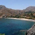 Пляж Соуда близ городка Плякияс на Крите, Греция